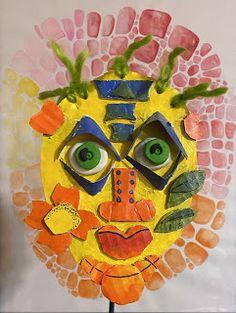 Creating a Costa Rica Boruca Mask. Scissors Drawing, Costa Rica Art, Elementary Art Lesson Plans, Used Cardboard Boxes, Fierce Animals, Trending Art, Arts Ed, Spirit Animal, Art Education