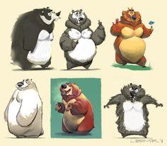 Art & Design Acrobatics + Visual Talismans for dangerous times by Lubomir Arsov Cartoon Drawings Of Animals, Fnaf Drawings, Animal Sketches, Bear Character, Character Drawing, Character Design, Animation Reference, Drawing Reference, Bear Drawing