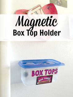 I never know where to keep the Box Tops we collect for the school fundraiser and end up losing half of them before we can turn them in.  A magnetic Box Top holder for the fridge is brilliant!  #spon #BTFE