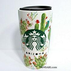 Coffee Tumbler, Desert Plants, Starbucks, Arizona, Ceramics, Mugs, Bottle, Green, Ceramica