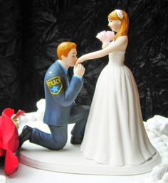 Police Officer COP prince wedding cake topper by CarolinaCarla, $125.00