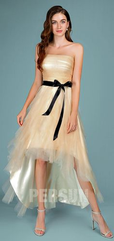 Champagne strapless rocker style straight cocktail dress with .- Champagne strapless rocker style straight cocktail dress with black belt - Cocktails Champagne, Champagne Cocktail Dress, Cheap Cocktail Dresses, Black Cocktail Dress, Bride To Be Sash, Strapless Dress Formal, Formal Dresses, Rocker Style, Bridal Looks