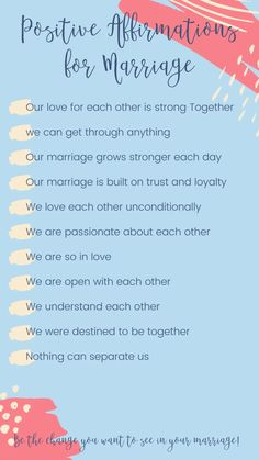 The Best Positive Affirmations For Marriage