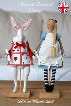 Alice and the White Rabbit PDF pattern by Bunnycottageshop