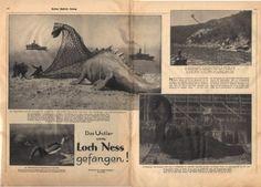 Loch Ness Monster Captured (April Fool, 1934)