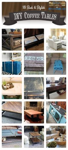 18 Sleep & Stylish DIY Coffee Tables