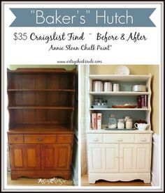 1970 S Craigslist Hutch Turned Baker Chalk Paint Painted Furniture
