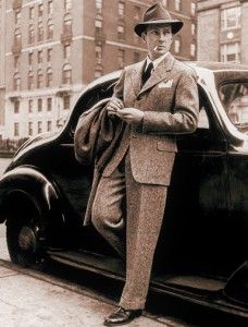 Men's fashion - 1940s. my dad had a suit and hat just like this when he married my mom in 1945