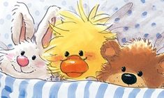 Florynda del Sol ღ☀¨✿ ¸.ღ ♥Suzy's Zoo♥ Anche gli Orsetti hanno un'anima…♥ Animal Sketches, Animal Drawings, Nursery Paintings, Bullet Journal Art, Baby Ducks, My Teddy Bear, Animal Cards, Watercolor Animals, Suzy