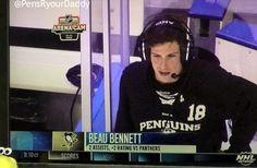 Beau Bennett wearing James Neal's hoodie