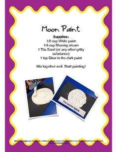 Fun space themed ideas. Used as a fun activity to understand the moon more clearly.