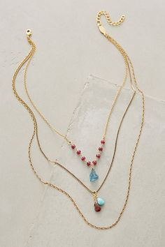 Petronille Layered Necklace #anthropologie