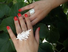 Silver ring from fresh natural leylandii leaf by ANEMONENATURALLE on Etsy