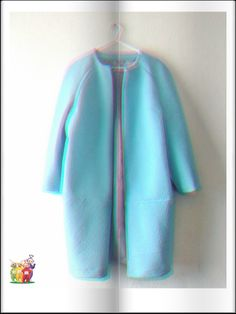 View details for the project Ocean Blue Cocoon Coat on BurdaStyle.