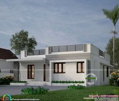simple modern exterior house design with two storey house essay with bungalow ho. - simple modern exterior house design with two storey house essay with bungalow house with attic desi - Bungalow Haus Design, Modern Bungalow House, Duplex House Design, Modern House Plans, Bungalow Exterior, Indian Home Design, Kerala House Design, Indian Home Interior, Single Floor House Design