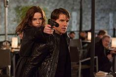Mission Impossible 5 Rogue Nation Tom Cruise-Black Wrinkle Leather Jacket sale #Ukleatherjacketshop #TomCruise