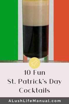 My 10 Favorite St. Patrick's Day Cocktails - A Lush Life Manual Best Vodka Cocktails, Dark Rum Cocktails, Green Cocktails, The Best Vodka, St Patrick's Day Cocktails, Rum Cocktail Recipes, Best Tequila, Cocktails For Parties, Coffee Cocktails