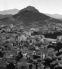 Lycabettus hill in old Athens Athens Map, Athens Greece, Old Photos, Vintage Photos, Greece History, Old Greek, Greece Photography, Greek Isles, Historical Photos