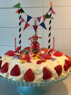Pippi Longstocking, Birthday Cake, Birthday Parties, Fika, Cold Porcelain, First Birthdays, Sweet Treats, Desserts, Barn
