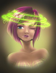 Tecna with tecnology crown by fantazyme on DeviantArt