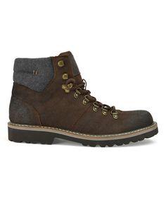 Another great find on #zulily! Brown Harrison Alpine Leather Boot #zulilyfinds