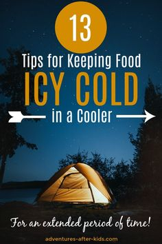 How to keep your food safe and cold while storing it in a cooler, even for an extended period of time! Camping Menu, Camping Survival, Camping Recipes, Camping Ideas, Make Ahead Freezer Meals, Cold Meals, Camping Essentials, Camping With Kids, Safe Food
