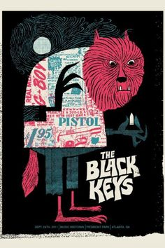 Black Keys Poster by Robert Lee... I don't really know any black keys songs, but I like the poster .