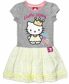 Hello Kitty Little Girls' T-Shirt Dress