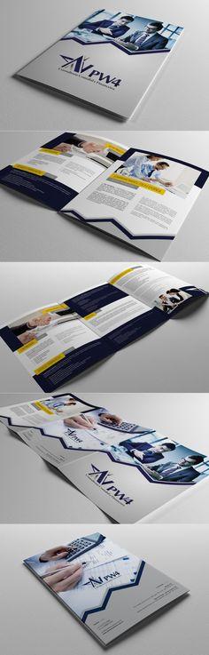 Desenvolvimento de Apresentação Comercial Impressa para a PW4 - Consultoria Contábil e Financeira, de Macaé/RJ.