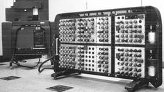 1946. The IBM 603 (Electronic Multiplier) was the first mass-produced commercial electronic calculating device; it used vacuum tubes to perform multiplication and addition. Only 100 were built; it was quickly superseded by the 604.