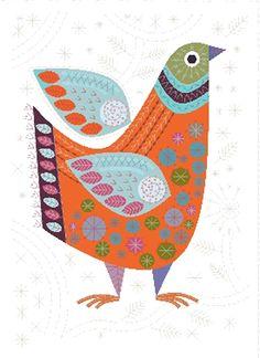 Tout nouveau! Kit de broderie  oiseau coloré  Folk Art