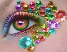 Rainbow eyes @ jenstrendspot