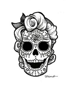 Catrina Day of the Dead Coloring Pages, dead decoration ideas . Skull Coloring Pages, Coloring Pages For Girls, Colouring Pages, Adult Coloring, Coloring Book, Sugar Skull Tattoos, Sugar Skull Art, Sugar Skulls, Mexican Skull Tattoos