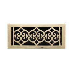 Old Victorian Brass Wall Register -