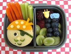 Arrrr, Matey! Such a cute arrangement for a kids lunch.