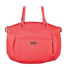 Shelby Coral Grace Adele Handbag Your Price:  $80.00 Subtle stud details give Shelby an effortless edge. This modern satchel features a hidden exterior zip pocket. Crafted of faux leather and silver-toned hardware.
