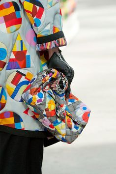 A colorful quilted bag at Chanel Fall 2014 - Best Runway Bags Paris Fashion Week Bags #PFW