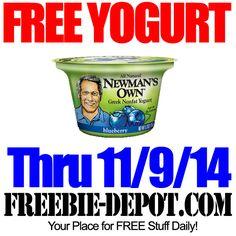 FREE Greek Yogurt – Freebie Friday – FREE Cup of Newman's Own Greek Nonfat Yogurt #freebiefriday