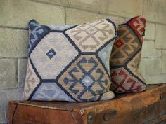 Cushions in Topkapi - Blue/Bronze and Red/Gold by Mulberry Home. Indigo Furniture, Scatter Cushions, Throw Pillows, Mulberry Home, Woodworking Skills, Cotton Velvet, Red Gold, Home Accessories, Moroccan