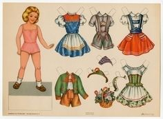 78.2824: Bambole Da Ritaglaire No. 4 | paper doll | Paper Dolls | Dolls | Online Collections | The Strong