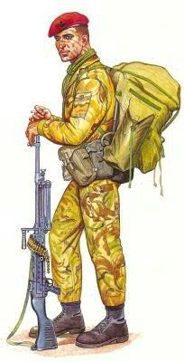British paratrooper 1981