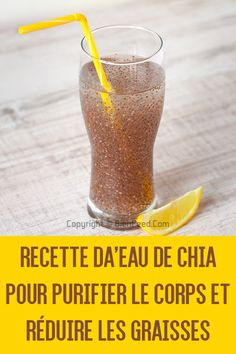 Chia water recipe to purify the body and reduce fat - perte de kilos - Raw Food Recipes Water Recipes, Raw Food Recipes, Keto Recipes, Healthy Recipes, Healthy Detox, Healthy Drinks, Detox Drinks, Healthy Food, Turmeric Smoothie