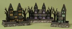Here are three Mini Haunted House Paper Models, designed by RavensBlight. There are Orange, Purple and Green three color versions. They are perfect for hal