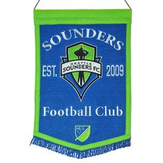 """Seattle Sounders FC 12"""" x 18"""" MLS Traditions Banner"""