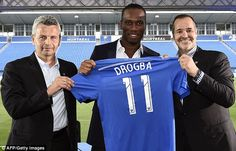 Didier Drogba presented as Montreal Impact player and Ivorian says he spoke to Chelsea staff and Alessandro Nesta about move. Alessandro Nesta, Chelsea Players, Chelsea Fc, Signs, Premier League, Soccer, Turning, Brazil, Star