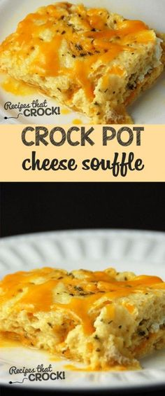 Super easy Crock Pot Cheese Souffle that everyone will love!
