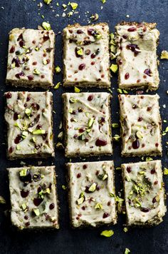 These vegan halvah bars are definitely not your everyday dessert! Absolutely irresistible, strangely addictive and gluten free Halvah Recipe, Sambhar Recipe, Vegan Protein Bars, Vegan Bar, Vegan Vegetarian, Vegetarian Recipes, Raw Food Recipes, Healthy Recipes, Kitchens