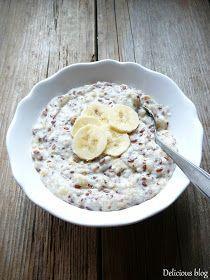 Delicious blog: Kaše...nejen ovesná Oatmeal Porridge, Sweet Recipes, Baking Recipes, Food And Drink, Meals, Cooking, Breakfast, Healthy, Blog