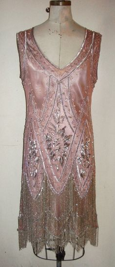 The Charleston Pink and Silver The Charleston beaded 1920s