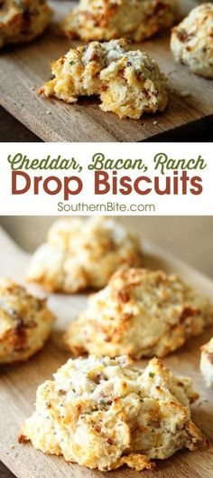 These Cheddar, Bacon, Ranch Drop Biscuits are my new obsession. They're so easy and are the perfect complement to any meal!